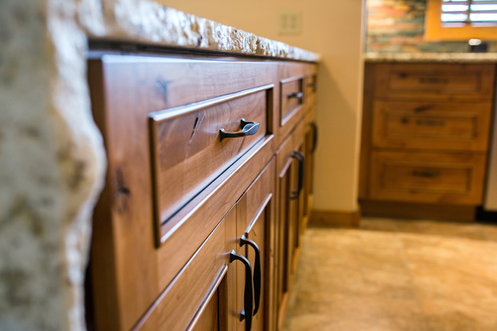 Close Up Chiseled Edge Granite Countertop Custom Home Accents