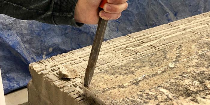 Hand Chiseled Edge Granite