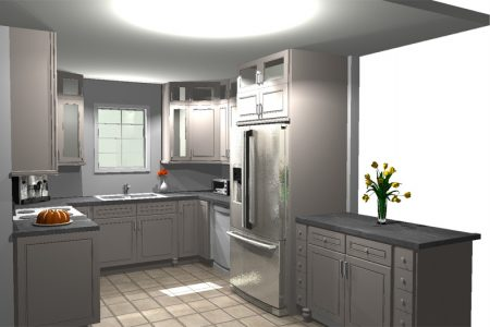 Color Kitchen Design Example